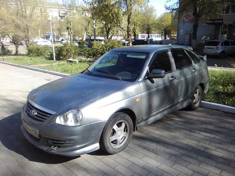 Подержанный ВАЗ (Lada) Priora, отличное состояние, серый , 2009 года выпуска, цена 195 000 руб. в Челябинской области