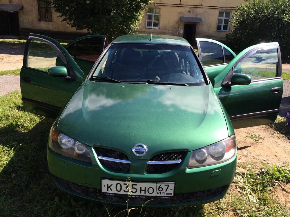 Подержанный Nissan Almera, хорошее состояние, зеленый металлик, 2004 года выпуска, цена 210 000 руб. в Смоленской области