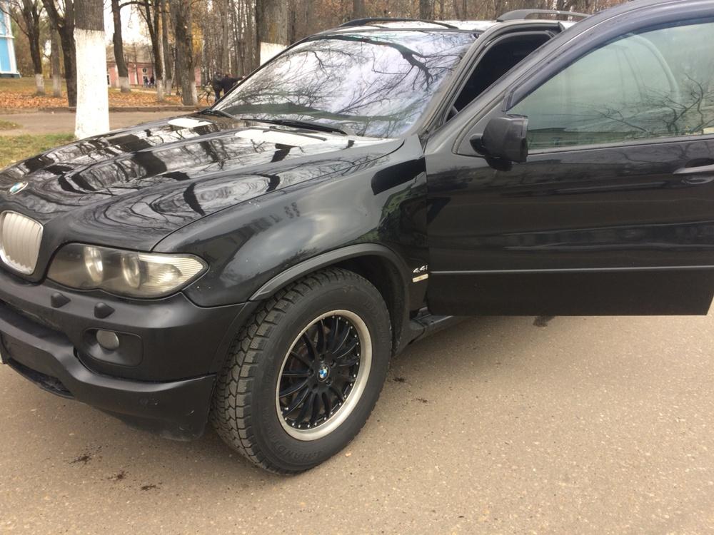 Подержанный BMW X5, хорошее состояние, черный , 2005 года выпуска, цена 500 000 руб. в Смоленской области