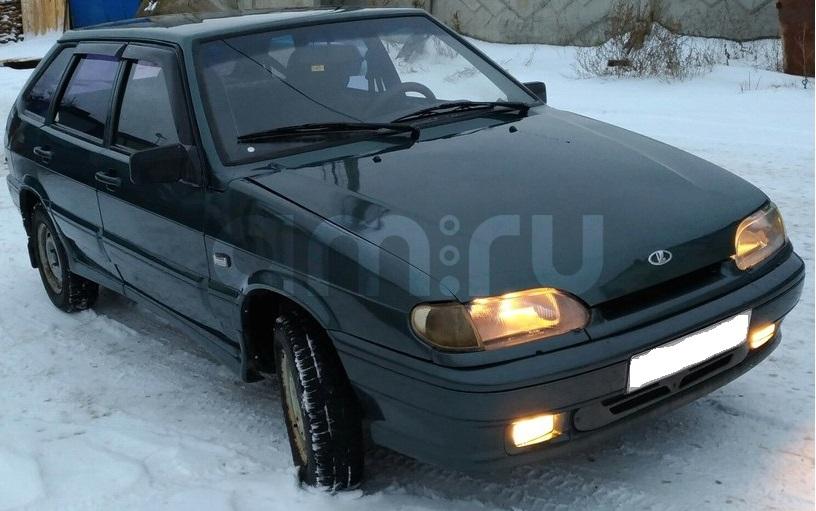 Подержанный ВАЗ (Lada) 2114, хорошее состояние, зеленый , 2007 года выпуска, цена 95 000 руб. в республике Татарстане