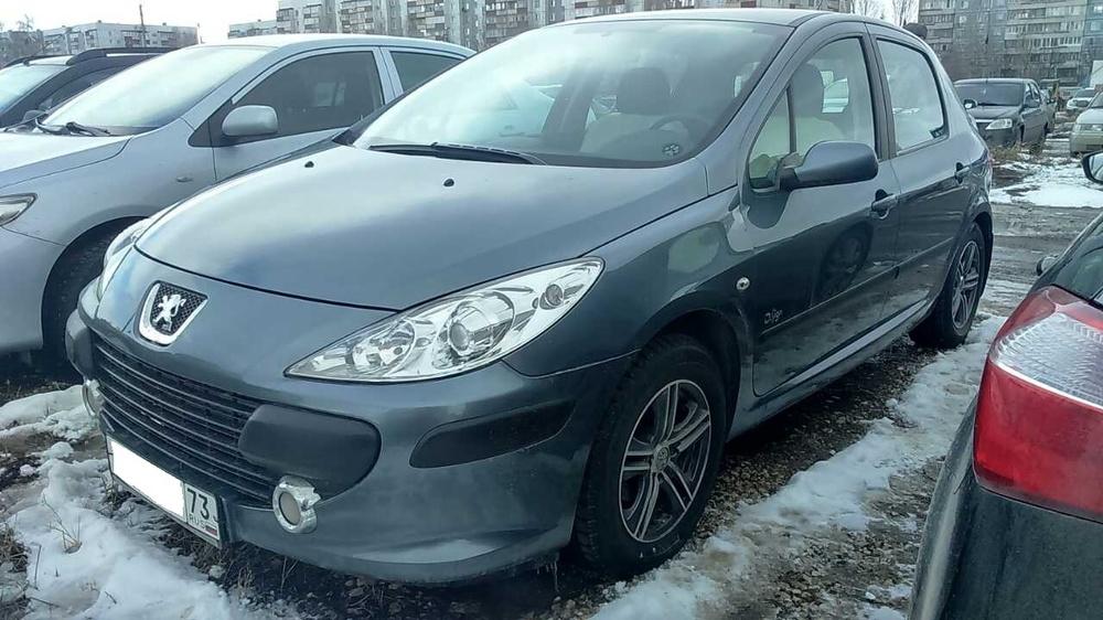 Подержанный Peugeot 307, хорошее состояние, синий , 2007 года выпуска, цена 300 000 руб. в Ульяновске