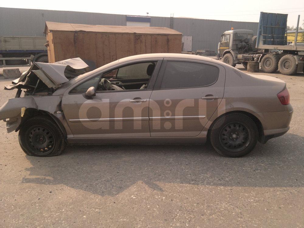 Подержанный Peugeot 407, битый состояние, коричневый металлик, 2007 года выпуска, цена 69 000 руб. в ао. Ханты-Мансийском Автономном округе - Югре
