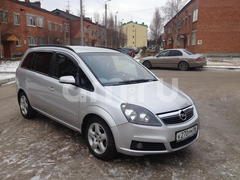 Подержанный Opel Zafira, хорошее состояние, серебряный металлик, 2006 года выпуска, цена 400 000 руб. в ао. Ханты-Мансийском Автономном округе - Югре