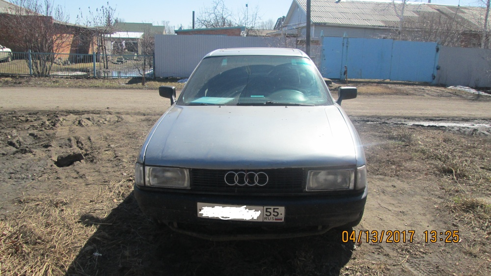 Подержанный Audi 80, среднее состояние, серый , 1991 года выпуска, цена 90 000 руб. в Омске