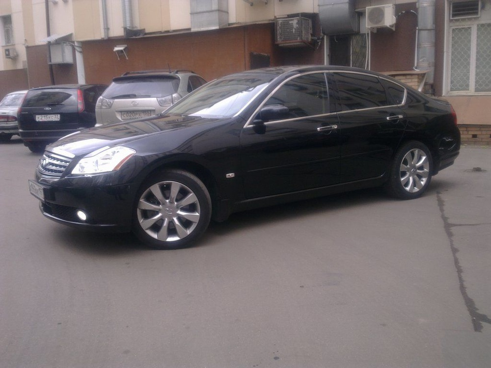 Подержанный Infiniti M-Series, отличное состояние, черный , 2007 года выпуска, цена 1 000 000 руб. в Челябинской области