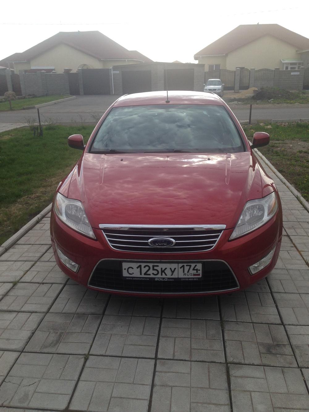 Подержанный Ford Mondeo, хорошее состояние, бордовый металлик, 2009 года выпуска, цена 505 000 руб. в Челябинской области