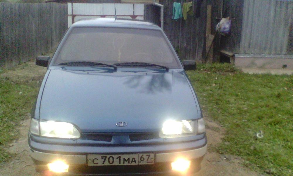 Подержанный ВАЗ (Lada) 2115, хорошее состояние, синий металлик, 2004 года выпуска, цена 100 000 руб. в Смоленской области