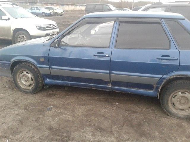 Подержанный ВАЗ (Lada) 2115, среднее состояние, синий , 2005 года выпуска, цена 40 000 руб. в Костромской области
