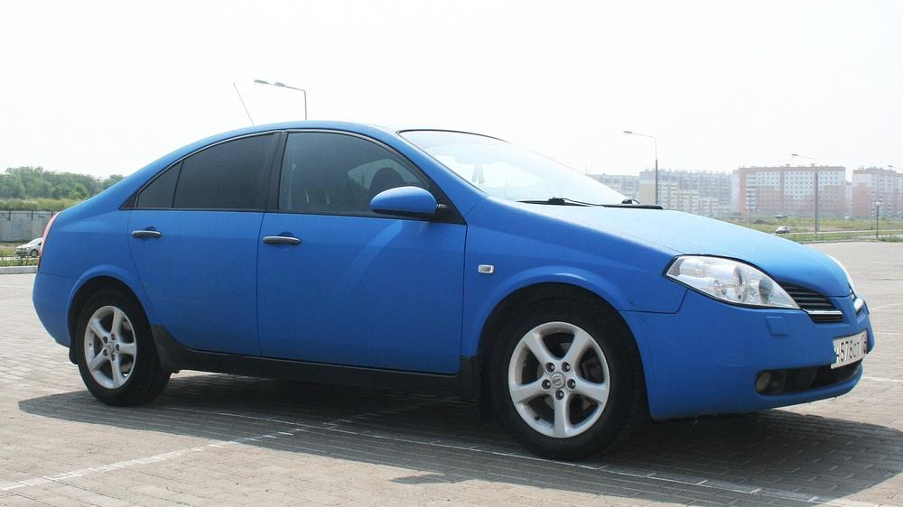 Подержанный Nissan Primera, хорошее состояние, синий матовый, 2006 года выпуска, цена 259 000 руб. в Челябинской области