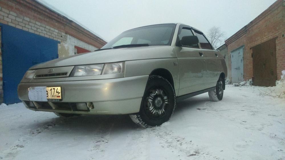 Подержанный ВАЗ (Lada) 2110, хорошее состояние, бежевый металлик, 2007 года выпуска, цена 145 000 руб. в Челябинской области
