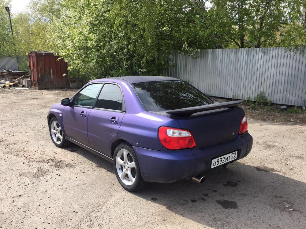 Подержанный Subaru Impreza, хорошее состояние, фиолетовый матовый, 2003 года выпуска, цена 230 000 руб. в Томской области