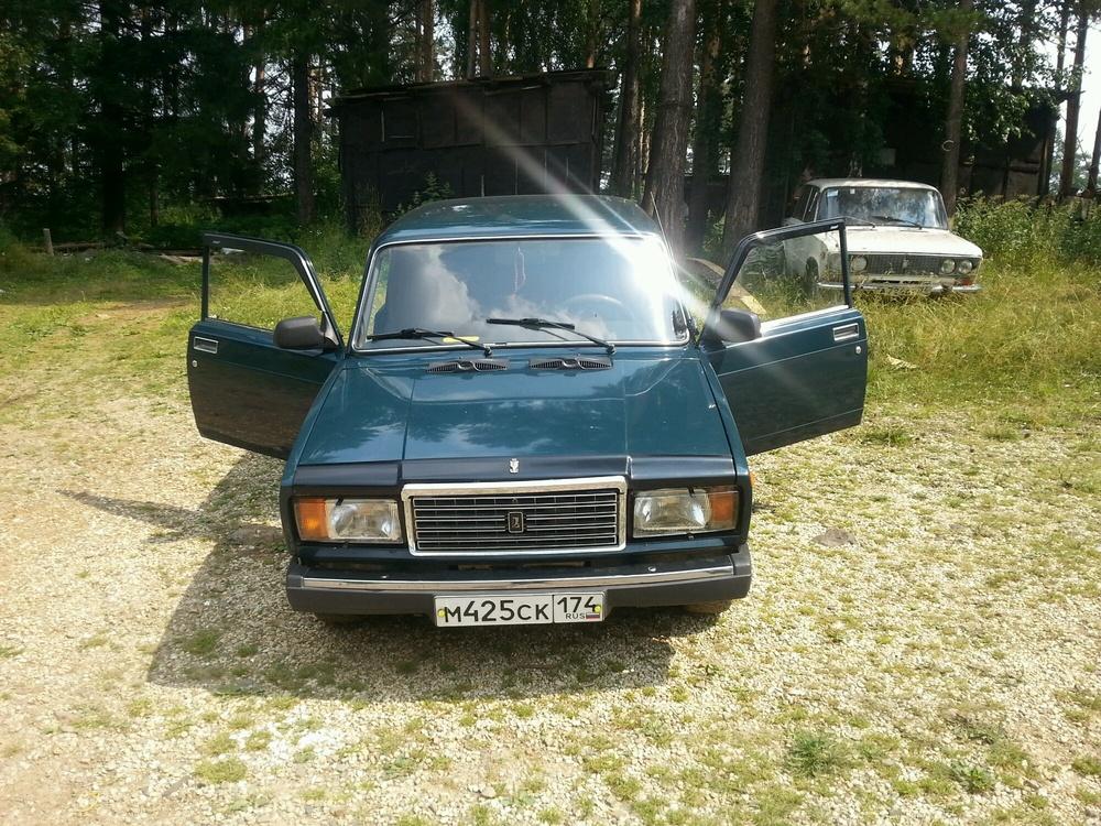 Подержанный ВАЗ (Lada) 2107, хорошее состояние, зеленый , 2008 года выпуска, цена 90 000 руб. в Челябинской области