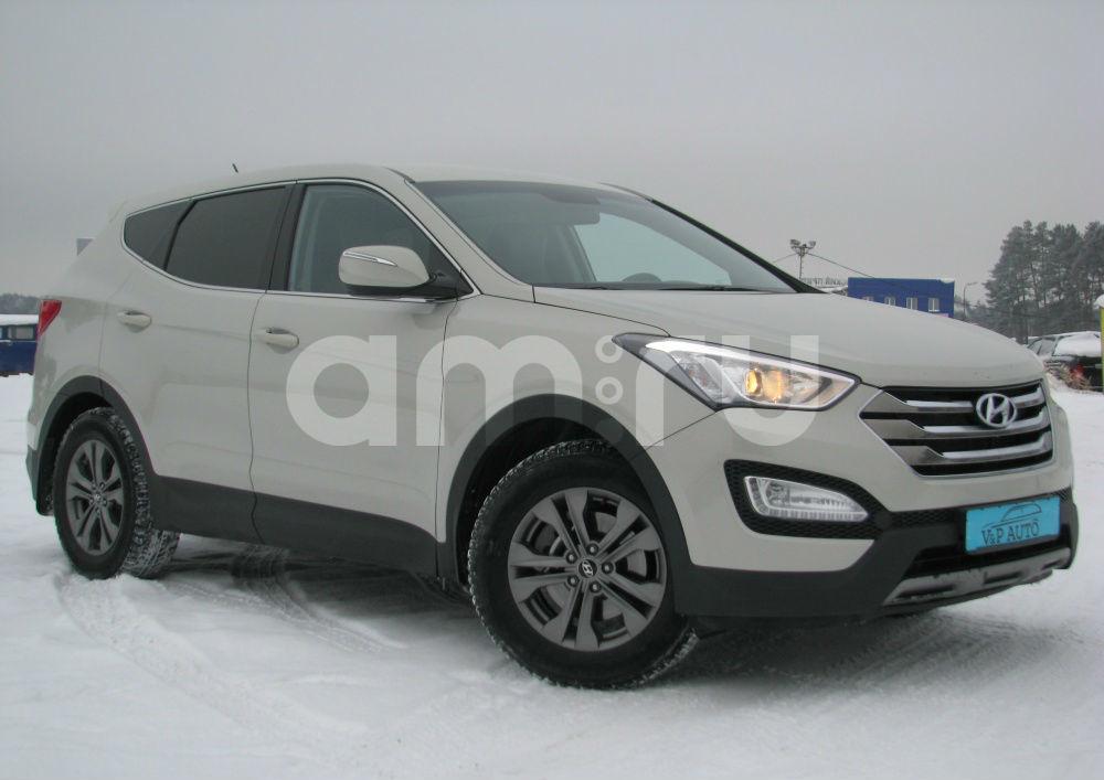 Hyundai Santa Fe с пробегом, бежевый металлик, отличное состояние, 2013 года выпуска, цена 1 279 000 руб. в автосалоне Березовский привоз (Екатеринбург, тракт Березовский, д. 4Б)