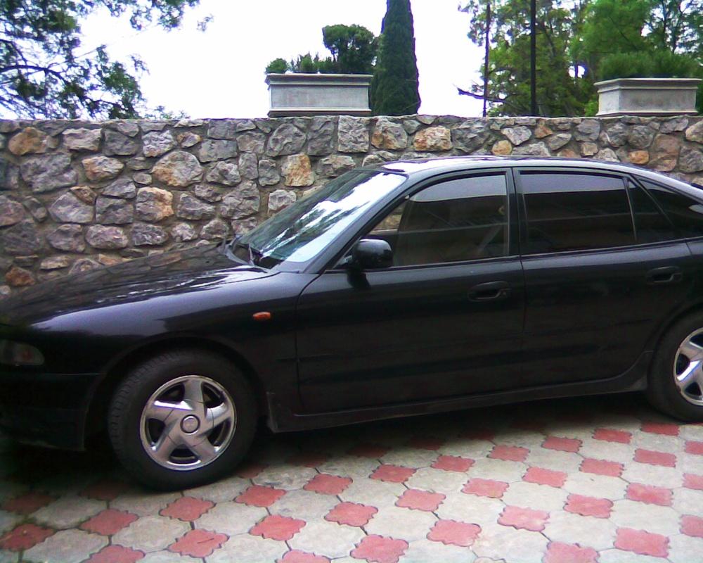 Подержанный Mitsubishi Galant, хорошее состояние, черный , 1993 года выпуска, цена 180 000 руб. в Крыму
