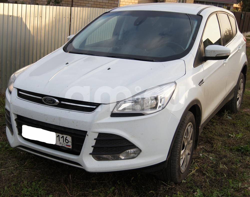 Подержанный Ford Kuga, отличное состояние, белый , 2014 года выпуска, цена 999 000 руб. в республике Татарстане