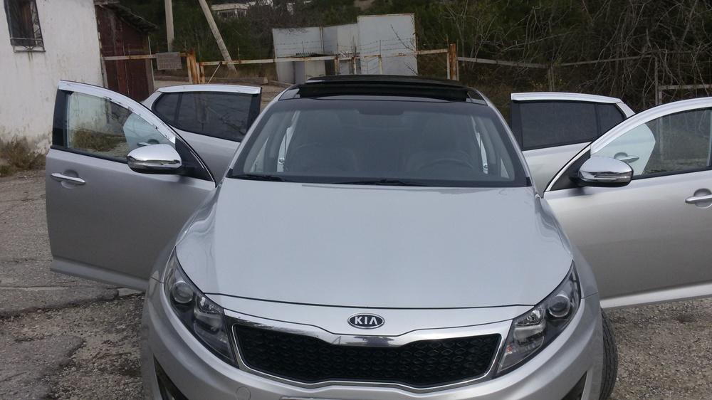 Подержанный Kia K5, отличное состояние, серебряный , 2011 года выпуска, цена 750 000 руб. в Крыму