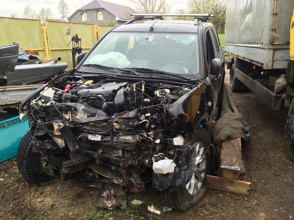 Подержанный Mitsubishi Pajero Sport, битый состояние, черный , 2014 года выпуска, цена 550 000 руб. в республике Татарстане