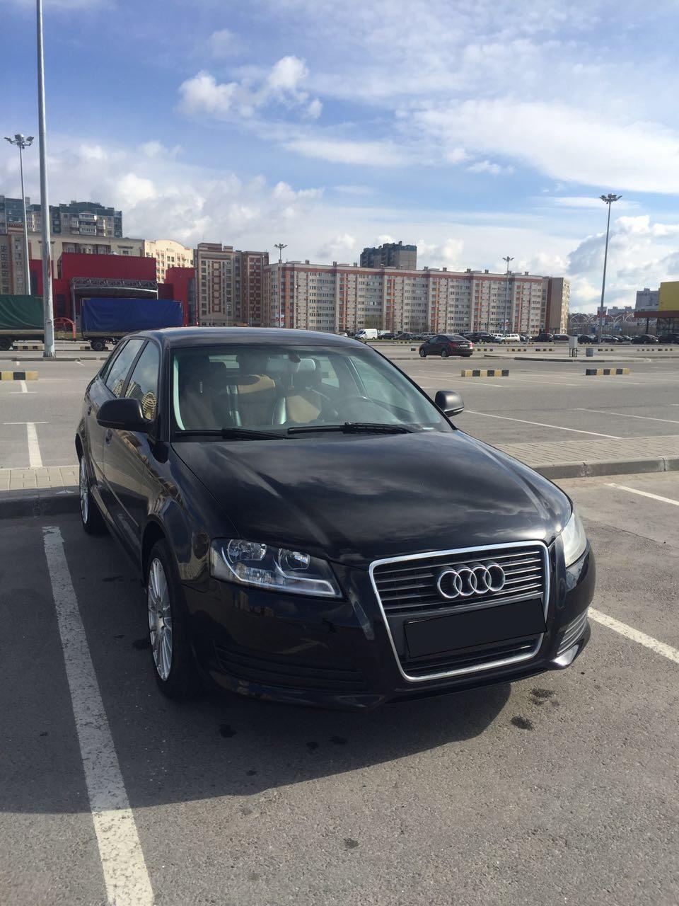 Подержанный Audi A3, хорошее состояние, черный , 2009 года выпуска, цена 470 000 руб. в Санкт-Петербурге