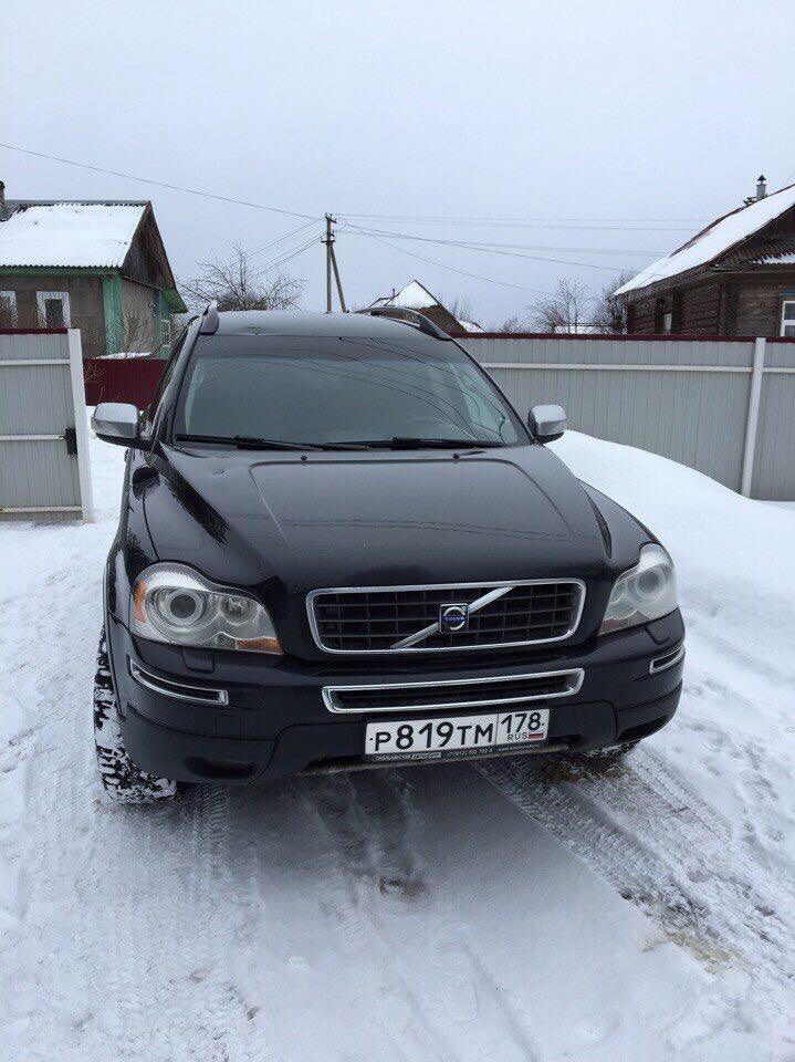 Подержанный Volvo XC90, хорошее состояние, черный , 2006 года выпуска, цена 750 000 руб. в Санкт-Петербурге