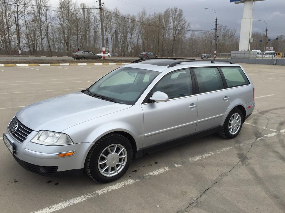 Подержанный Volkswagen Passat, хорошее состояние, серебряный , 2005 года выпуска, цена 295 000 руб. в Ульяновской области