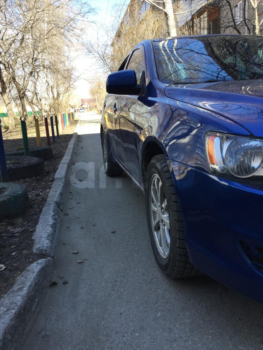 Подержанный Mitsubishi Lancer, отличное состояние, синий , 2010 года выпуска, цена 450 000 руб. в Екатеринбурге