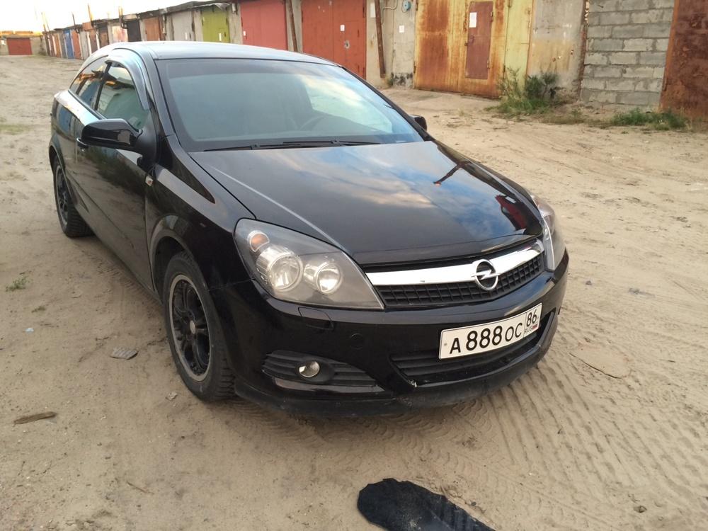 Подержанный Opel Astra, хорошее состояние, черный , 2008 года выпуска, цена 315 000 руб. в ао. Ханты-Мансийском Автономном округе - Югре
