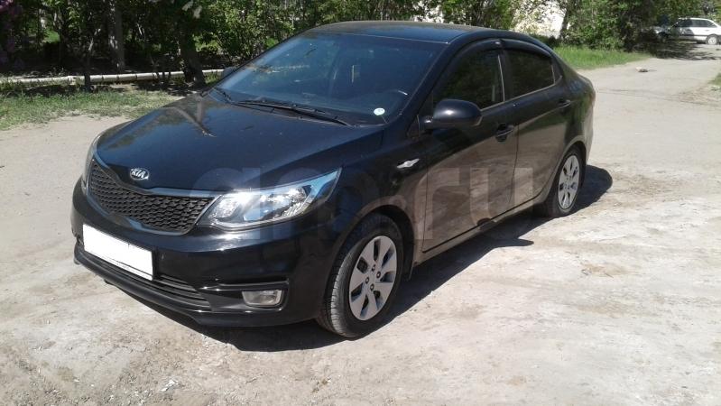 Kia Rio с пробегом, черный , отличное состояние, 2015 года выпуска, цена 585 000 руб. в автосалоне  ()