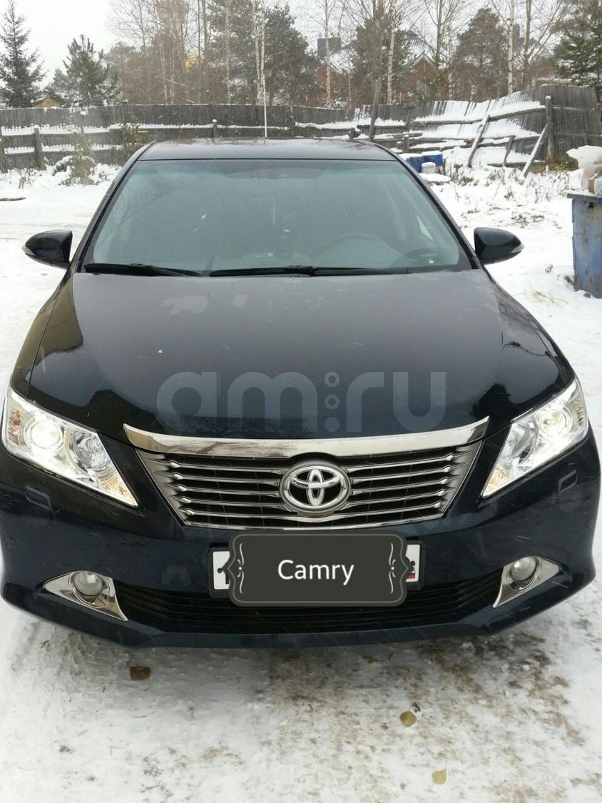 Подержанный Toyota Camry, отличное состояние, черный металлик, 2014 года выпуска, цена 1 230 000 руб. в ао. Ханты-Мансийском Автономном округе - Югре