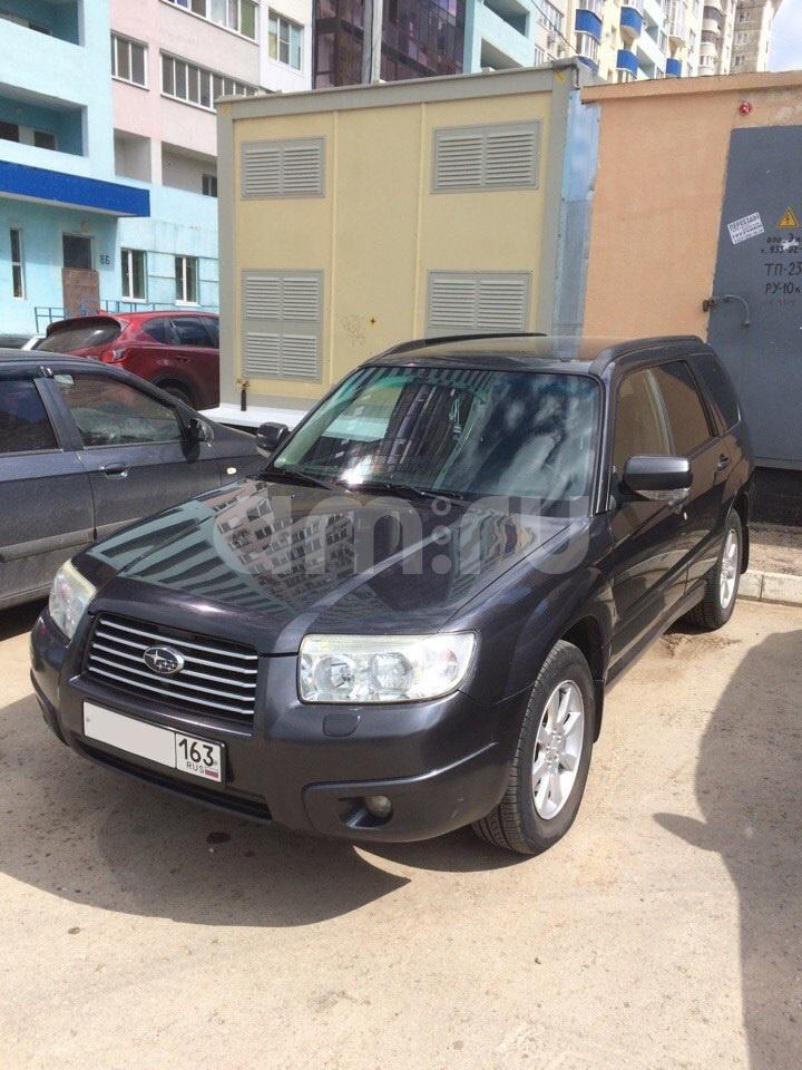 Подержанный Subaru Forester, отличное состояние, мокрый асфальт , 2007 года выпуска, цена 540 000 руб. в Самаре
