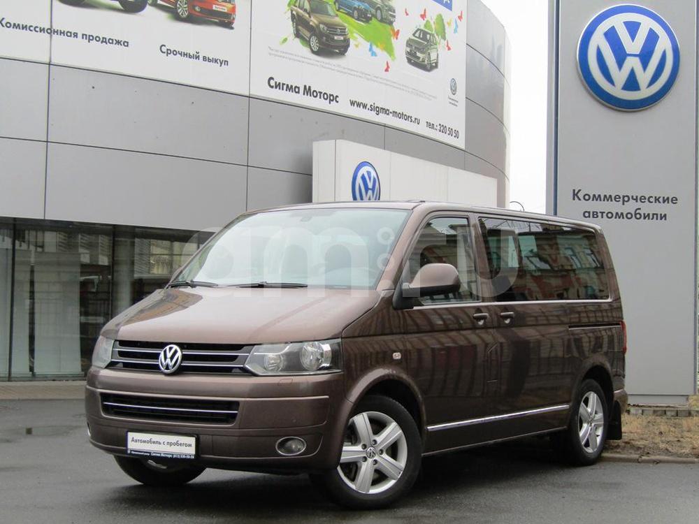 Volkswagen Multivan с пробегом, коричневый , отличное состояние, 2011 года выпуска, цена 1 593 600 руб. в автосалоне ГК СИГМА МОТОРС (Санкт-Петербург, Васильевский Остров, пр-кт Большой, д. 98А)