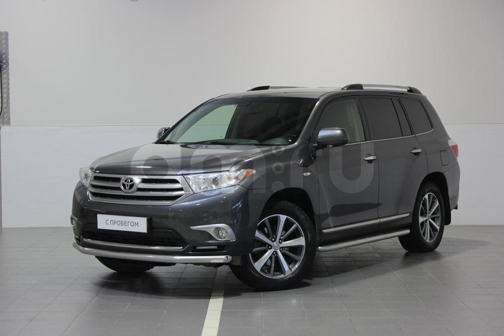 Toyota Highlander с пробегом, серый , отличное состояние, 2012 года выпуска, цена 1 535 000 руб. в автосалоне Тойота Центр Сургут Юг (Сургут, тракт Югорский, д. 23, стр. 1)