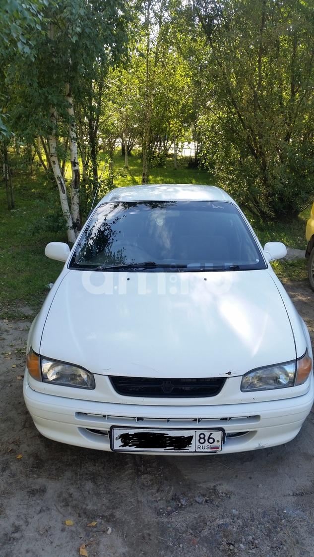 Подержанный Toyota Corolla, хорошее состояние, белый , 1996 года выпуска, цена 130 000 руб. в ао. Ханты-Мансийском Автономном округе - Югре