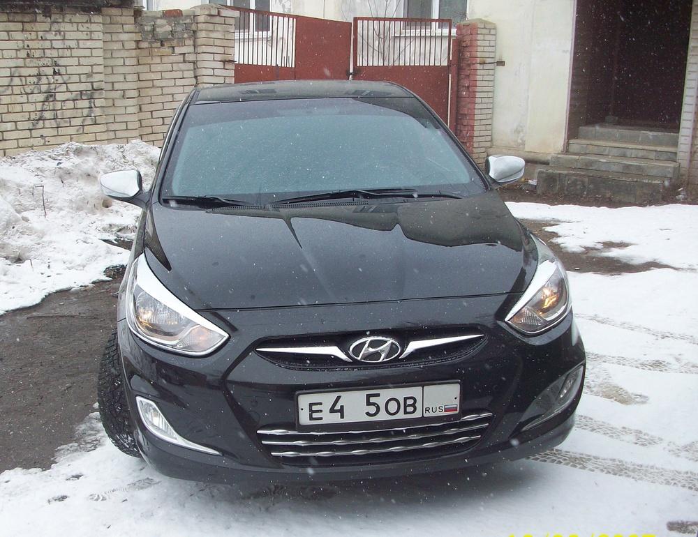 Подержанный Hyundai Solaris, отличное состояние, черный , 2014 года выпуска, цена 557 000 руб. в Пензе