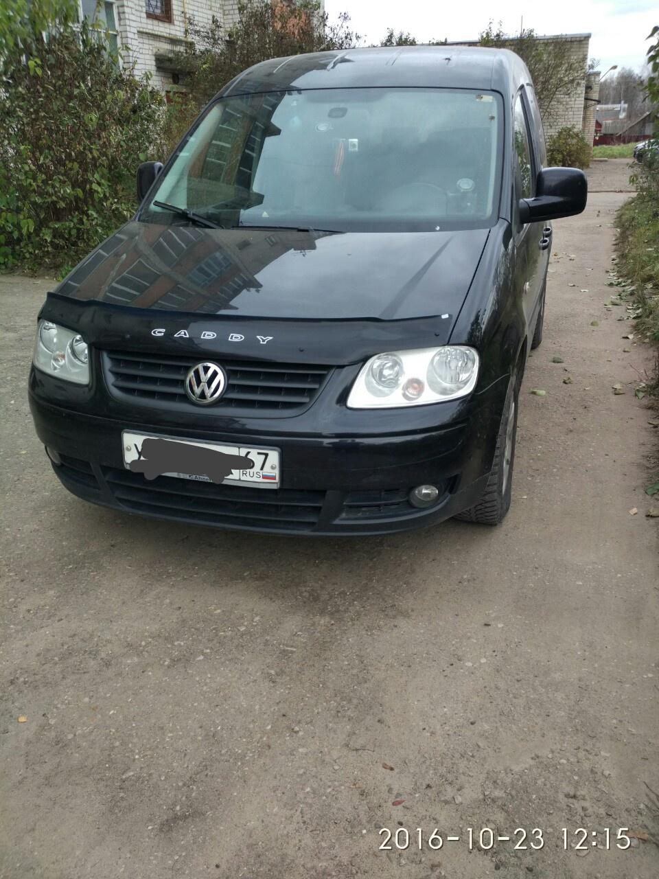 Подержанный Volkswagen Caddy, отличное состояние, черный , 2008 года выпуска, цена 700 000 руб. в Смоленской области