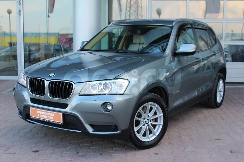 BMW X3 с пробегом, серый , отличное состояние, 2013 года выпуска, цена 1 329 000 руб. в автосалоне Автобан-Запад (Екатеринбург, ул. Металлургов, д. 67)
