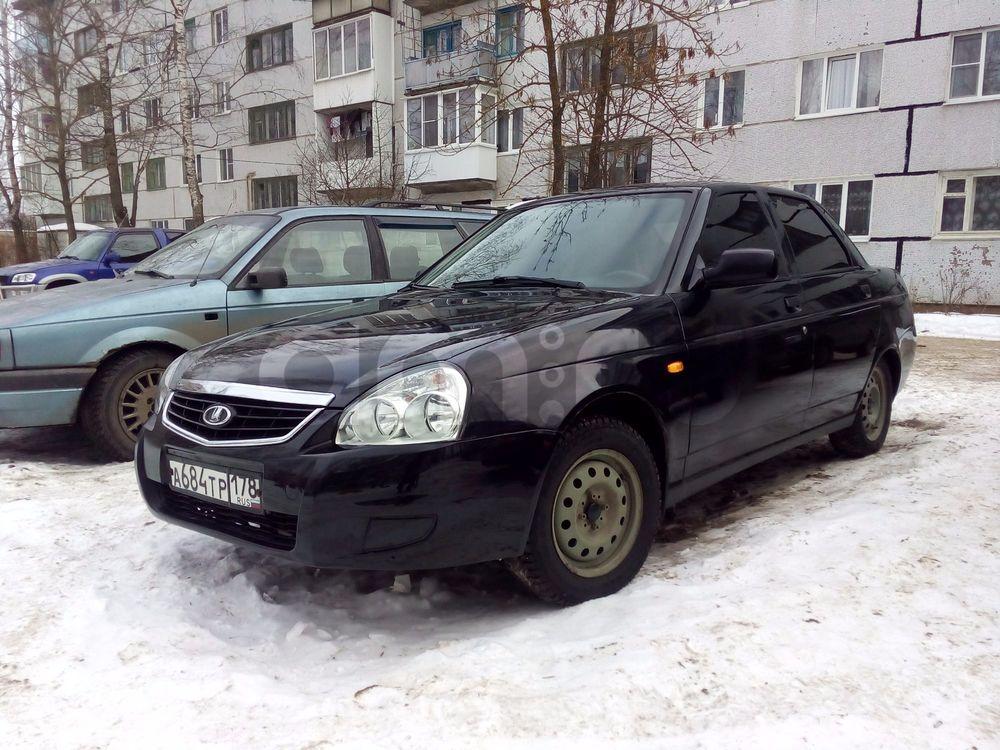 Подержанный ВАЗ (Lada) Priora, отличное состояние, черный металлик, 2007 года выпуска, цена 155 000 руб. в Тверской области