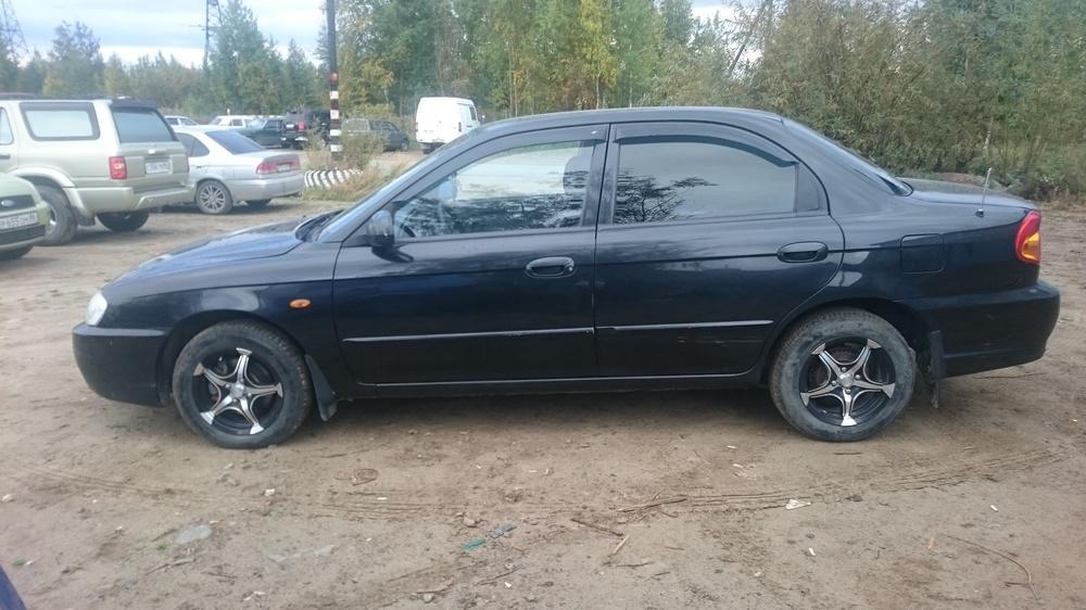 Подержанный Kia Spectra, отличное состояние, черный , 2007 года выпуска, цена 210 000 руб. в ао. Ханты-Мансийском Автономном округе - Югре