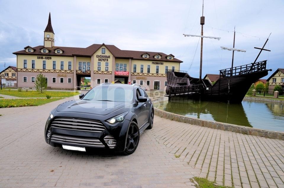 Подержанный Infiniti FX-Series, хорошее состояние, черный , 2008 года выпуска, цена 1 650 000 руб. в Смоленской области