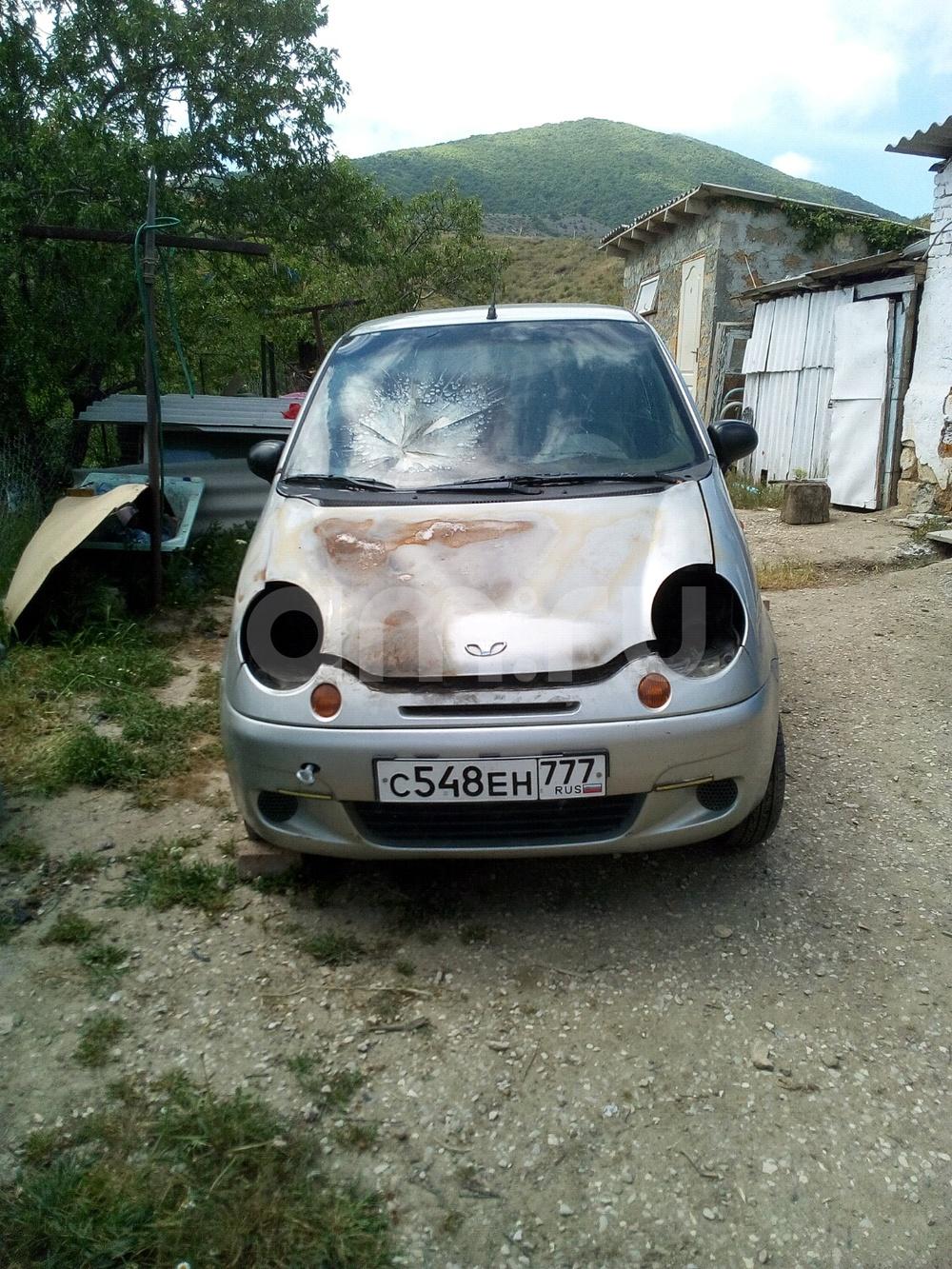 Подержанный Daewoo Matiz, битый состояние, серебряный , 2006 года выпуска, цена 80 000 руб. в Крыму