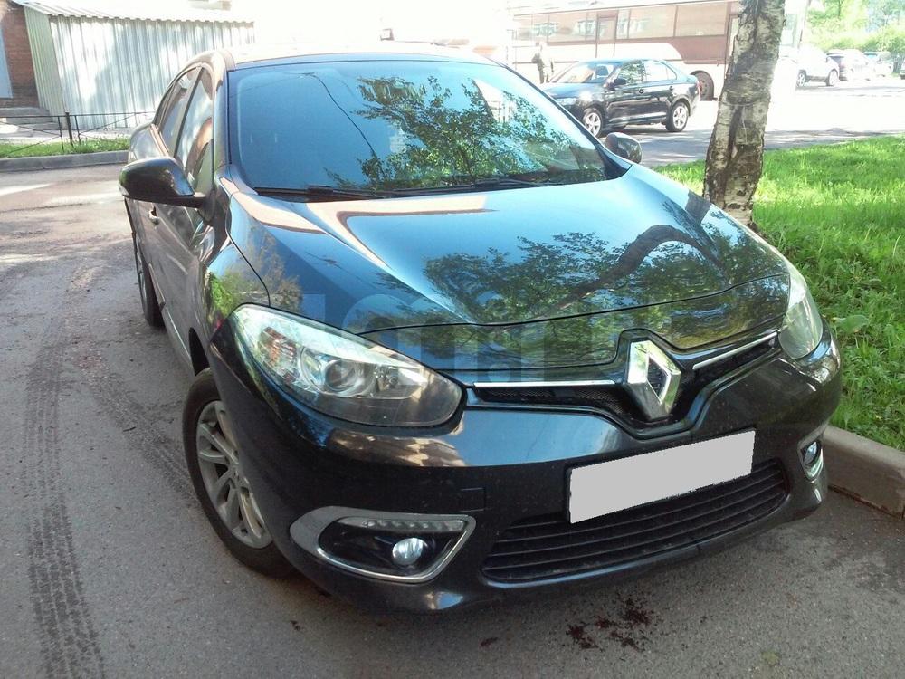 Подержанный Renault Fluence, отличное состояние, черный , 2014 года выпуска, цена 610 000 руб. в Санкт-Петербурге