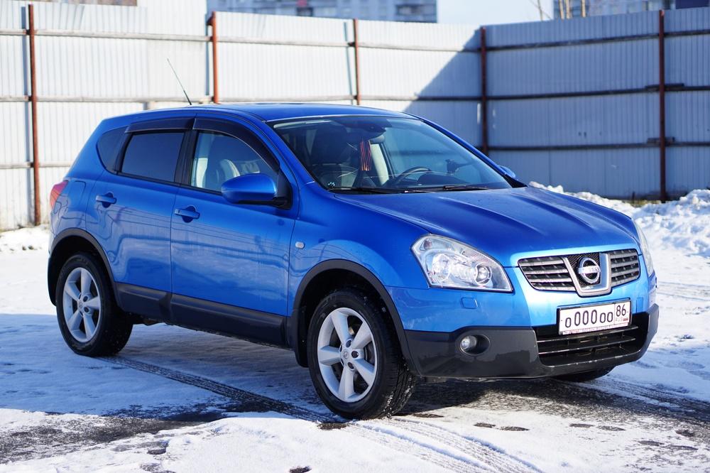 Подержанный Nissan Qashqai, хорошее состояние, синий металлик, 2007 года выпуска, цена 600 000 руб. в ао. Ханты-Мансийском Автономном округе - Югре