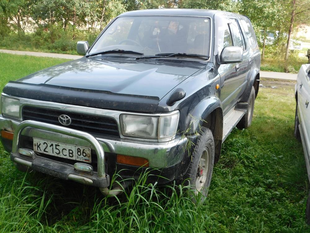 Подержанный Toyota Hilux Surf, среднее состояние, черный , 1993 года выпуска, цена 320 000 руб. в ао. Ханты-Мансийском Автономном округе - Югре