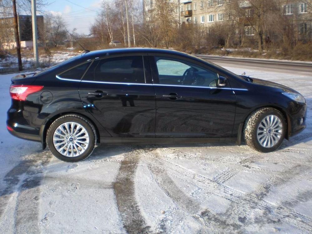Подержанный Ford Focus, хорошее состояние, черный металлик, 2012 года выпуска, цена 729 900 руб. в республике Татарстане