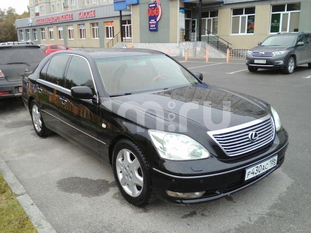 Подержанный Lexus LS, среднее состояние, черный , 2004 года выпуска, цена 600 000 руб. в ао. Ханты-Мансийском Автономном округе - Югре