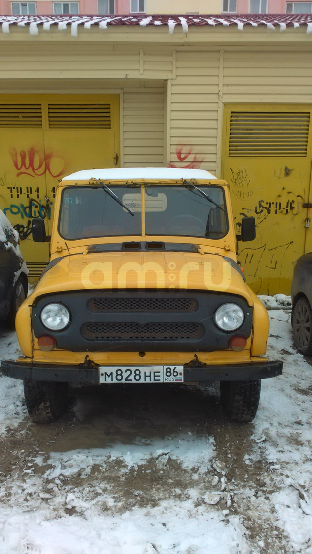 Подержанный УАЗ 3151, среднее состояние, желтый , 1992 года выпуска, цена 100 000 руб. в ао. Ханты-Мансийском Автономном округе - Югре