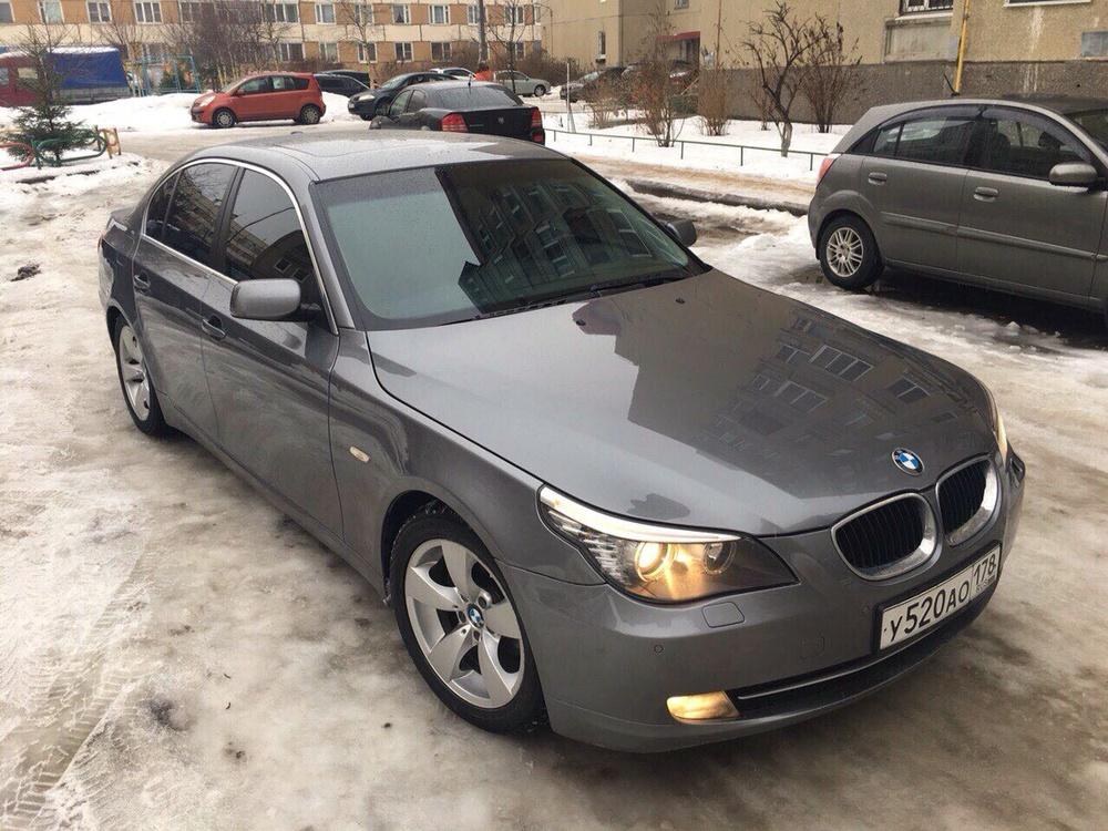 Подержанный BMW 5 серия, отличное состояние, серый , 2009 года выпуска, цена 645 000 руб. в Санкт-Петербурге