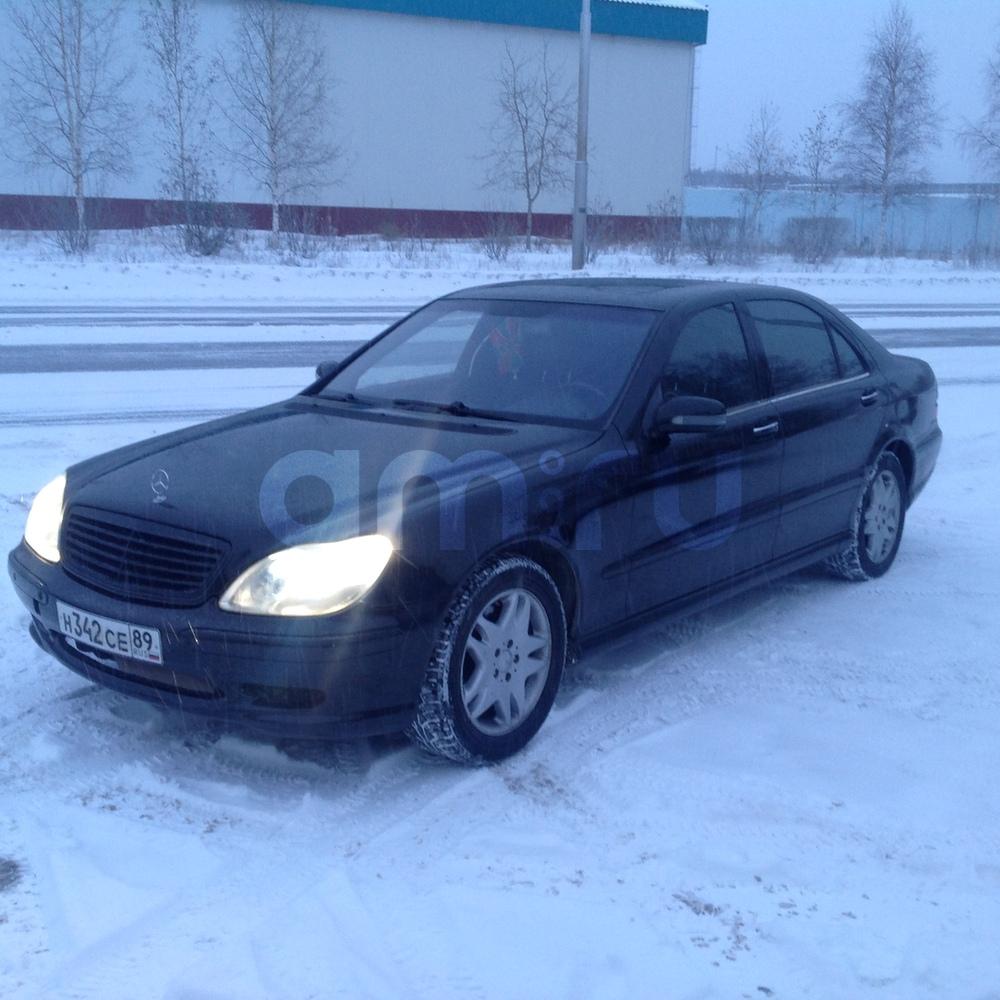 Подержанный Mercedes-Benz S-Класс, отличное состояние, черный металлик, 2002 года выпуска, цена 500 000 руб. в ао. Ханты-Мансийском Автономном округе - Югре