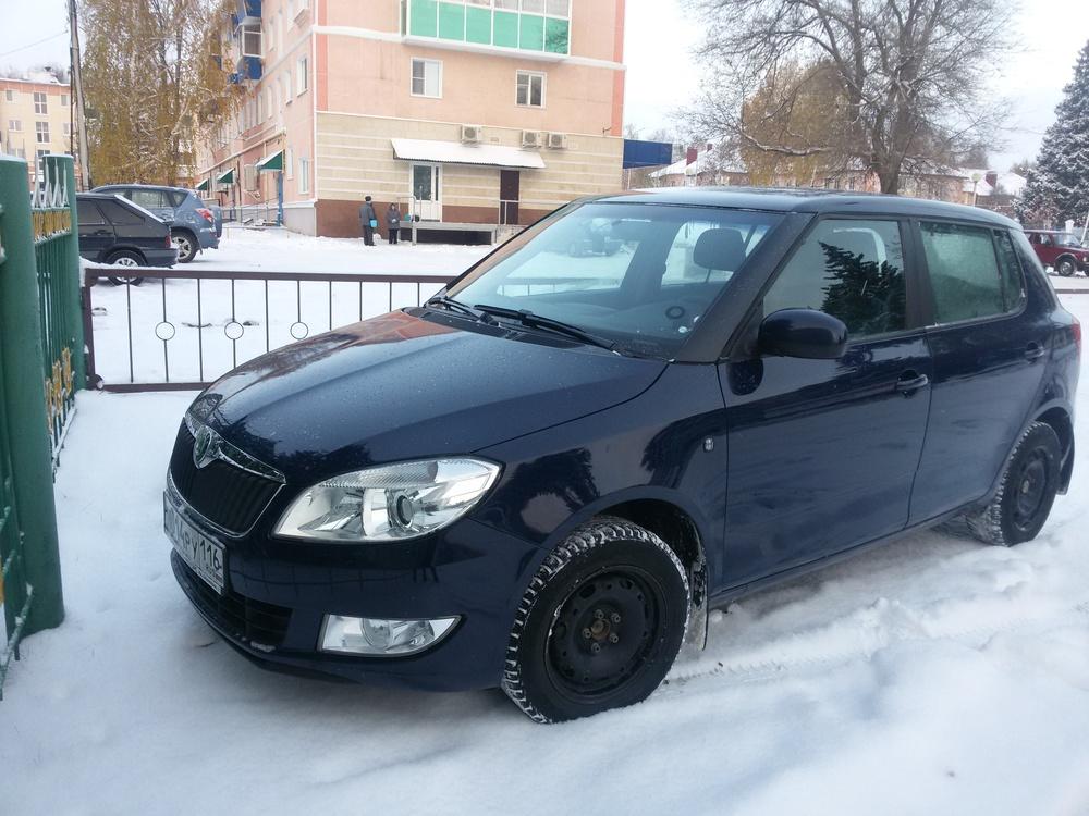 Подержанный Skoda Fabia, среднее состояние, синий , 2011 года выпуска, цена 300 000 руб. в республике Татарстане