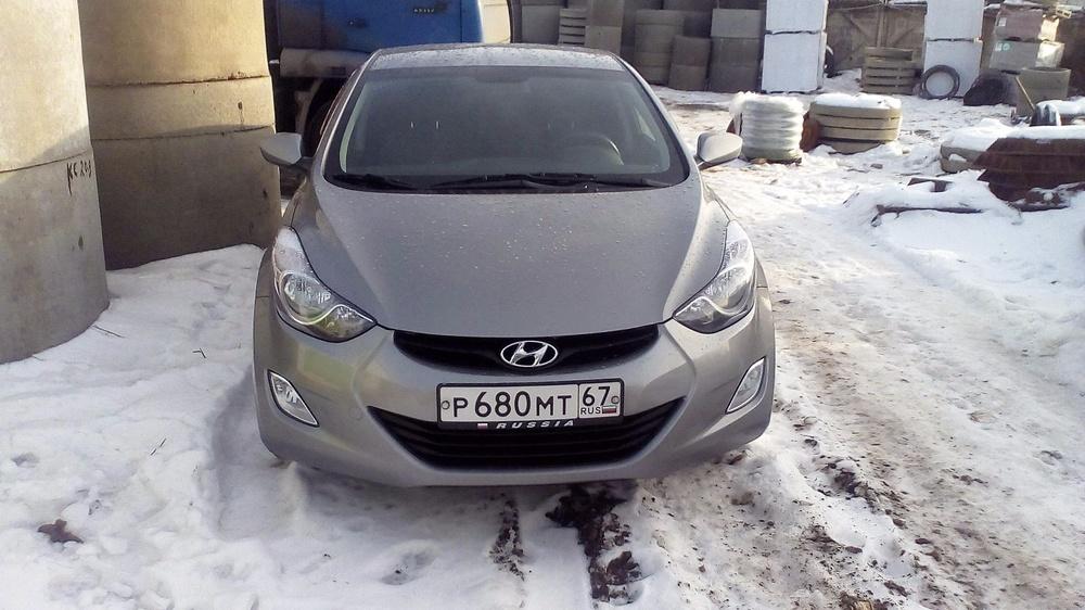 Подержанный Hyundai Elantra, отличное состояние, серый , 2012 года выпуска, цена 580 000 руб. в Смоленской области