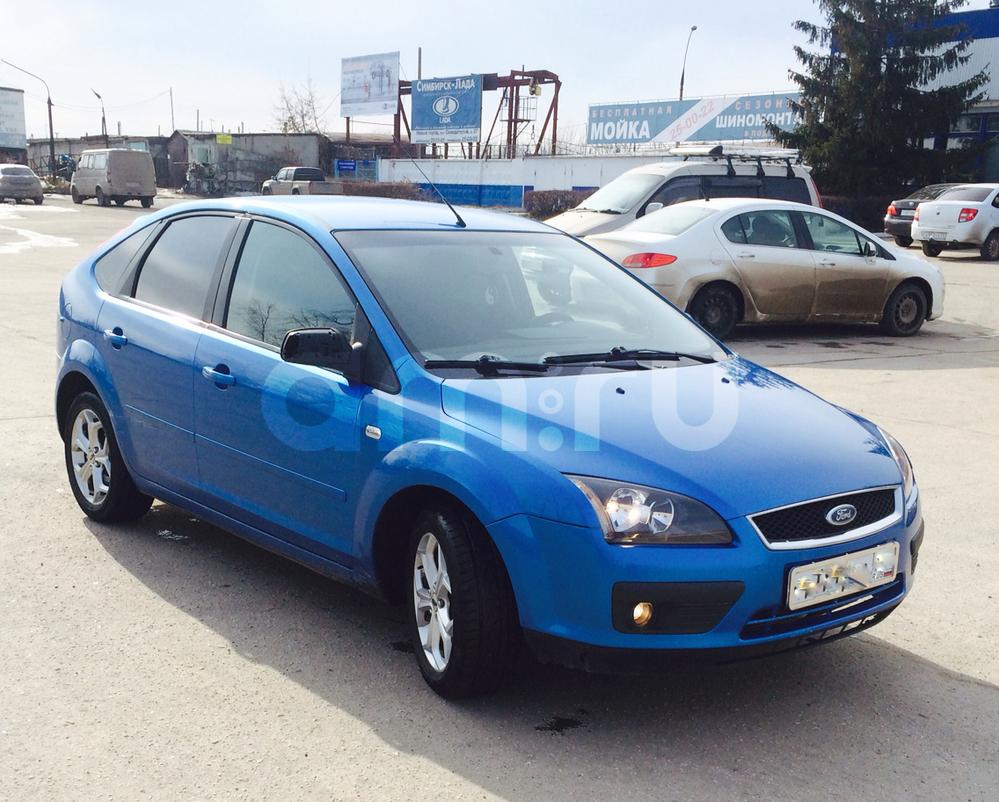 Подержанный Ford Focus, отличное состояние, голубой металлик, 2006 года выпуска, цена 229 000 руб. в Ульяновске